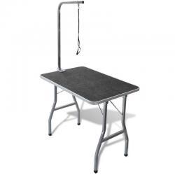 Dog Cat Pet Grooming Table Portable Folding Loop Anti Slip 91.5cm alon Vat Bench