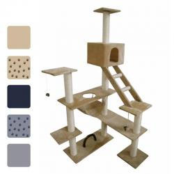 3 Colours Cat Tree 184 Pet Scratcher Scratching Post Pole with/no Paw Prints