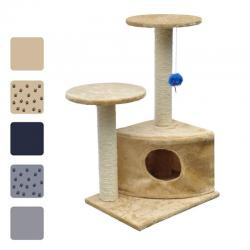3 Colours Cat Tree 70 Pet Scratcher Scratching Post Pole with/no Paw Prints
