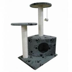 Cat Tree 70 Pet Scratcher Post Poles House Gym Condo Furniture Scratching Grey