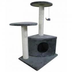 Cat Tree 70 Grey Pet Scratcher Post Poles Scratching House Gym Condo Furniture