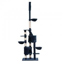 Cat Tree 230-260 Scratcher Post Poles House Gym Condo Furniture Scratching Blue