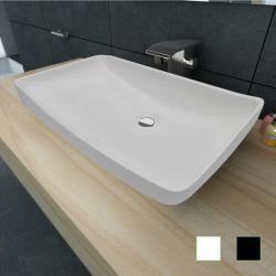 Si buscas vidaXL Ceramic Bathroom Sink Rectangular Above Counter Washroom Black/White puedes comprarlo con acustica está en venta al mejor precio