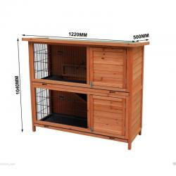 New Extra Large Rabbit Hutch with BASE Chicken Coop Guinea Pig Pet Cage House