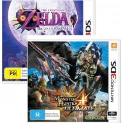Monster Hunter 4 IV Ultimate & The Legend of Zelda Majoras Mask 3D 3DS/2DS New
