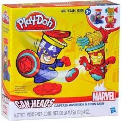 NEW HASBRO PLAY-DOH MARVEL CAN-HEADS CAPTAIN AMERICA AND IRON MAN B0745
