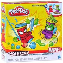 NEW HASBRO PLAY-DOH MARVEL CAN-HEADS SPIDERMAN & GREEN GOBLIN B0744