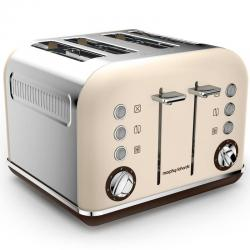 Morphy Richards Sand Special Edition Accents 4 Slice Toaster 2Y Warranty 242101