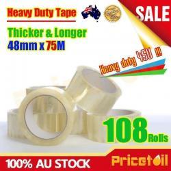 Si buscas 108 Rolls Heavy Duty Packing Packaging Sticky Sealing Tape Box Carton 75m 48mm puedes comprarlo con TIENDAPABLUS está en venta al mejor precio