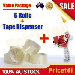 Si buscas OZ New 1x Packaging Tape Dispenser Gun + 6 Rolls 75M x 48MM Clear Packing Tape puedes comprarlo con TIENDAPABLUS está en venta al mejor precio