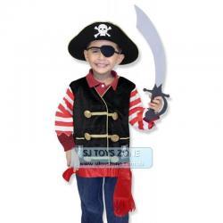 Si buscas Melissa Doug Pirate Dress Up Role Play Costume Set w/ Accessories Treasure Hunt puedes comprarlo con MCKTOYS está en venta al mejor precio