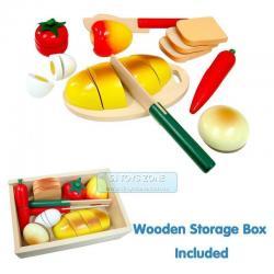 Si buscas Fun Factory Pretend Play Non-Toxic Wooden Cutting Picnic Food Box With Knife Fre puedes comprarlo con MCKTOYS está en venta al mejor precio
