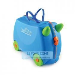 Si buscas Trunki Ride On Suitcase Terrance Blue Kids Travel Luggage Toy Box puedes comprarlo con Deportronics está en venta al mejor precio