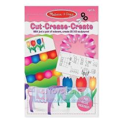 Melissa & Doug Cut Crease Create Pink 3D Sculpture Kids Craft Learning Toy
