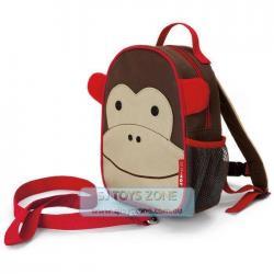 Skip Hop Zoo Let Mini Backpack with Rein Monkey