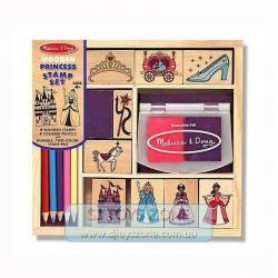 Melissa & Doug M&D Princess Wooden Stamp 9pcs Kids Art Craft Activity Toy