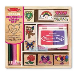 Melissa & Doug M&D Friendship Wooden Stamp Set Kids Art Craft Activity Toy