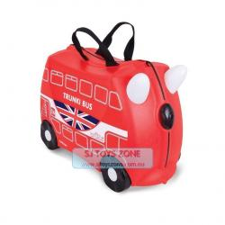 Trunki Ride On Suitcase Boris Bus Kids Travel Luggage Toy Box