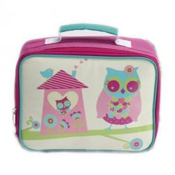 NEW Jiggle & Giggle Childrens Insulated Lunch Box Bag - Owl House Pink