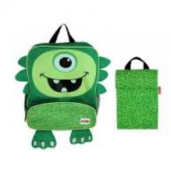NEW Nuby Childrens Junior Insulated Backpack & Lunch Bag - iMonster Green