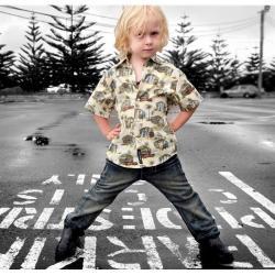NEW Hullubullu Surf's Up Boys Short Sleeve Button Shirt