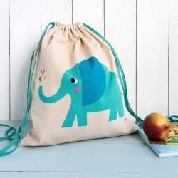 NEW Rex Childrens Drawstring Bag - Elephant