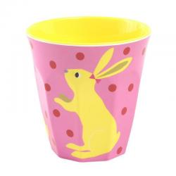 If you are looking NEW Ginger Lifestyle Melamine Curved Cup - Pink Bunny You can buy it now, it is for sale Australia