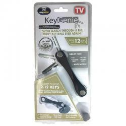 Key Genie Aluminium Slim Compact 12 Keys Keyring/Holder Pocket Organiser Black