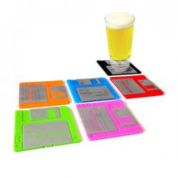 Floppy disc/disk Drink/Beer Coaster Funky Retro PC Computer Geek Novelty Gift