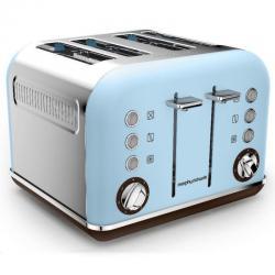 Si buscas Morphy Richards 242100 Azure Blue Toaster Matte Chrome Accents 4 Slice 1880W puedes comprarlo con PHOTOSTORE está en venta al mejor precio