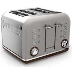 Si buscas Morphy Richards 242102 Pebble Brown Toaster Matte Chrome Accents 4 Slice 1800W puedes comprarlo con PHOTOSTORE está en venta al mejor precio