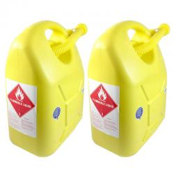 If you are looking 2x 20L Fuel Container for Petrol/Fuel/Diesel/Kerosene Storage Heavy Duty Yellow you can buy to KG Electronic, It is on sale at the best price