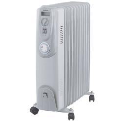 Heller HOIL11T 2400W Electric Portable 11 Fin Oil Heater w/24h Timer/Column/Heat