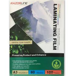 If you are looking 100pk A3 Laminating Film Pouches/Sheets 80Micron Protect/Safeguard for Laminator you can buy to KG Electronic, It is on sale at the best price