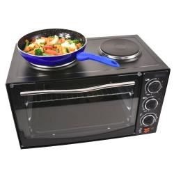 34L 1350W 54cm Portable Electric Grill/Toaster Oven/Dual Hot Plate Cooktop/Baker