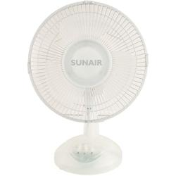 Sunair TDF23 23cm Desk Fan/Tilt/Swivel/Oscillating Head/Air Cooler Cooling
