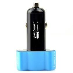 Si buscas mbeat Triple Port Rapid Car Charger 3 USB 4.8A/24W for Samsung/iPad/iPhone Blue puedes comprarlo con TUBELUXUY está en venta al mejor precio