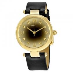 Marc by Marc Jacobs Dotty Gold-Tone Leather Strap Women's Watch MJ1409