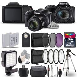 Si buscas Canon PowerShot SX540 HS Digital Camera+ LED + 7PC Filter + EXT BAT - 64GB Kit puedes comprarlo con PROFOTOMX está en venta al mejor precio