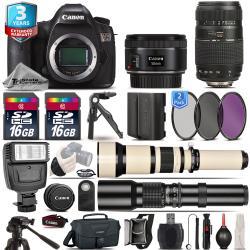 Si buscas Canon EOS 5DS Camera + 50mm 1.8 + 70-300mm + 650-1300mm + EXT BAT + 2yr Warranty puedes comprarlo con PROFOTOMX está en venta al mejor precio