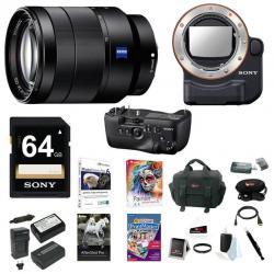 Sony 24-70mm f/4 Zoom Lens, VGC99AM Battery Grip, LAEA4 Mount Adapter Bundle