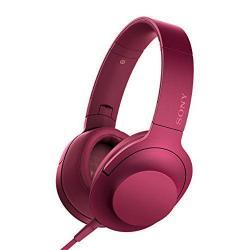 SONY h.ear Headphone Hi-Res Remote w/ Mic (Bordeaux Pink) MDR100AAPP