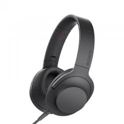 Sony h.ear Headphones with mic - full size - charcoal black