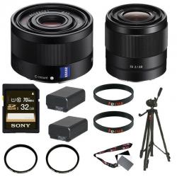 If you are looking Sony Sonnar T* FE 35mm f/2.8 ZA Lens + Sony FE 28mm f/2.0 E-mount Prime Lens you can buy to focuscamera, It is on sale at the best price