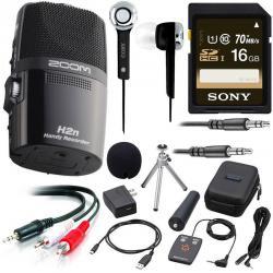 Zoom H2n Handheld Digital Recorder w/ APH-2N Accessory Package,16GB SD Card