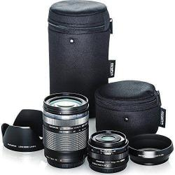 If you are looking Olympus Travel Lens Kit (M.Zuiko 14-150mm f4.5-6.6 II & M.Zuiko 17mm f1.8 black) you can buy to focuscamera, It is on sale at the best price