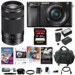 If you are looking Sony Alpha a6000 Mirrorless Camera w/ 16-50mm & E55-210mm Premium Bundle you can buy to focuscamera, It is on sale at the best price
