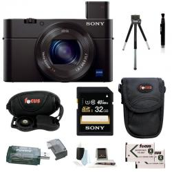 If you are looking Sony DSC-RX100M III + Sony 32GB SDHC Class 10 UHS-1 R40+ Deluxe Accessory Kit you can buy to focuscamera, It is on sale at the best price