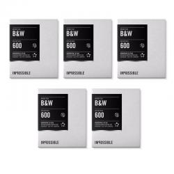 Impossible Instant Black & White 2.0 Film for Polaroid 600-Type Cameras (5 Pack)