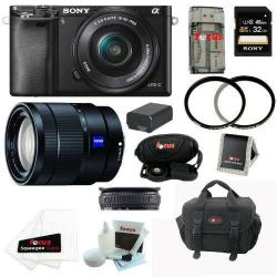 If you are looking Sony Alpha A6000 Mirrorless Digital Camera w/ 16-50m & 16-70mm Lenses + 32GB Kit you can buy to focuscamera, It is on sale at the best price